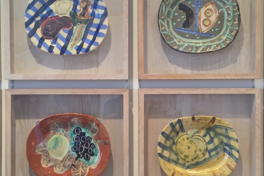 Painted plates, Picasso museum